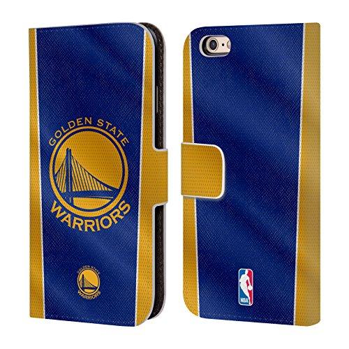 Offizielle Nba Streifen Golden State Warriors Brieftasche Handyhülle aus Leder für Apple iPhone 5 / 5s / SE Banner