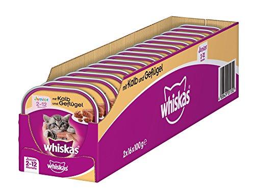 whiskas-junior-katzenfutter-kalb-und-geflgel-32-schalen-32-x-100-g