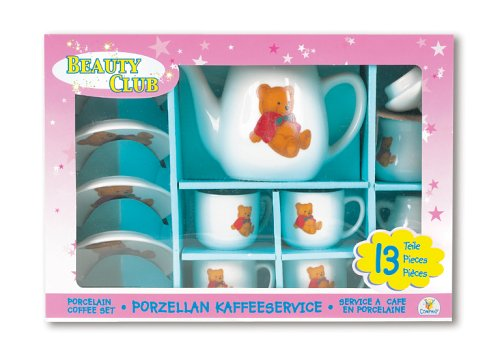 The Toy Company BEAUTY CLUB 19566 - Porzellan Kaffee Service, 13teilig (Beauty-porzellan)