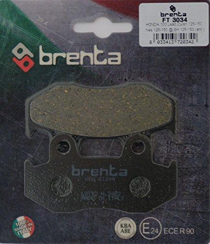 Brenta Pastiglie Freno Organiche Moto per Honda 100 Lead, SVC110, Dylan 125, SH 125