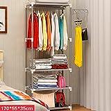 Garderobe-einfache Aufhänger-Boden-Aufhänger-Haushalts-Schlafzimmer kleidet Regal ( Farbe : Weiß )