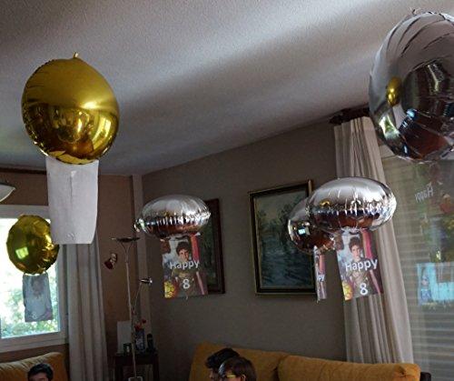 16 Globos de helio mágicos: FLOTAN sin subir ni bajar (en suspensión). Absolutamente asombrosos. Personalizables por ti mismo con tu impresora: cumpleaños, bodas, fiestas, eventos, publicidad.