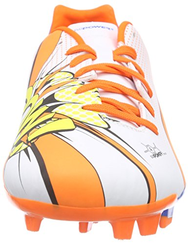 Puma Evopower 4.2 Pop FG, Chaussures de Football Homme Blanc - Weiß (white-orange clown fish-electric blue lemonade 01)