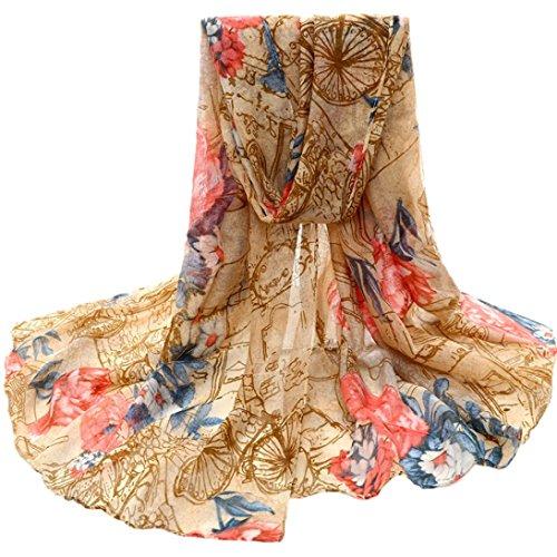 -Schal-lange Hals-Wraps Schal-Schal der Blumen-Frauen (Gelb) (Der Mann In Dem Großen Gelben Hut)