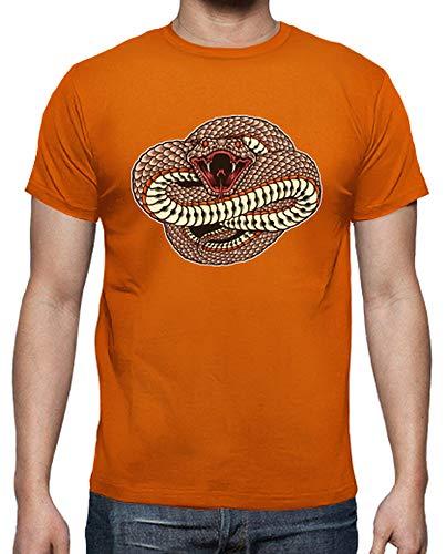 tostadora - T-Shirt Wild und Gefahrlich - Manner Orange L