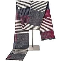 Bufanda de los hombres Cashmere Feel Bufandas de moda para hombres Invierno bufanda larga de punto Bufandas de tela escocesa para hombre (Color : Gris-Onesize)