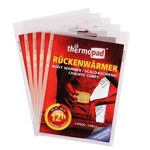 Thermopad Rückenwärmer, 5 Stück, 12 Stunden Wärme
