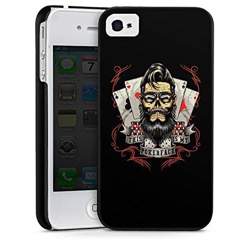 Apple iPhone X Silikon Hülle Case Schutzhülle Pokerface Spruch Poker Premium Case glänzend