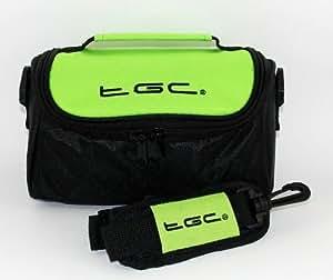 TGC ® Case Shoulder Bag for Bose ® SoundLink ® Mini 2 Bluetooth Speaker with shoulder strap and Carry Handle (Electric Green & Black)