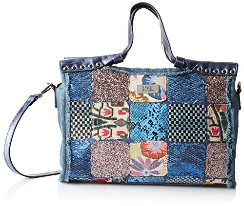 XTI 86120, Shopper para Mujer, Azul (Jeans), 35x25x13 cm (W x H x L)