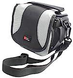 DURAGADGET Camcorder-Tasche für Aiptek AHD H500 Full-HD Camcorder, mit Tragegurt, schwarz/grau