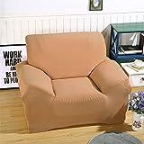 ele ELEOPTION Sofa Überwürfe Sofabezug Stretch Elastische Sofahusse Sofa Abdeckung in Verschiedene Größe und Farbe (Khaki, 1 Sitzer für Sofalänge 90-130cm)