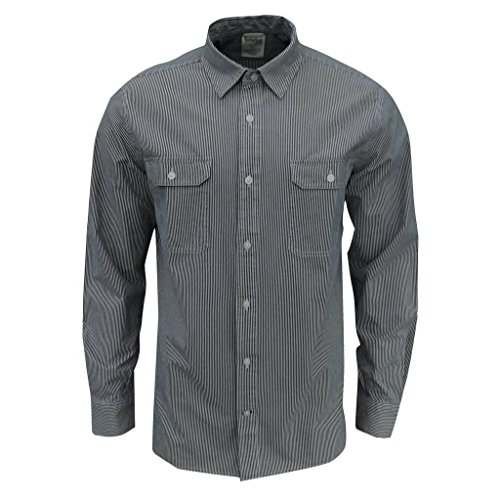 Timberland Men's Falmouth Pinstripe Long Sleeve Shirt Blue/White Medium