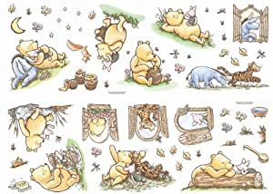 Decofun classic winnie the pooh wall stickers for Classic pooh wall mural