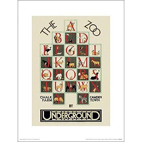 Londres - The Zoo, 1928, Transport For London Póster Impresión Artística (40 x 30cm)