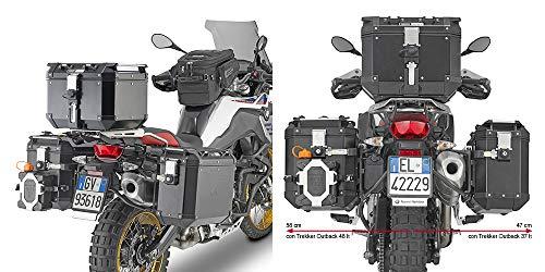 Portavaligie laterale specifico per valigie GIVI Trekker Outback per BMW F 850 GS (18) - PL5127CAM
