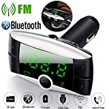 Gaddrt Auto-Ladegerät Bluetooth MP3 FM Kabelloser Bluetooth FM Transmitter Car Kit MP3 Player Dual USB-Ladegerät