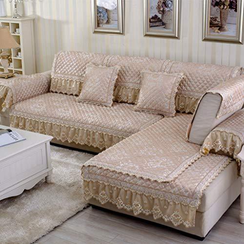 ALYR Sofa üBerzug Ecksofa, europäische Premium-Leinen-Kombination aus Sofa und Liege für Hunde,Beige_80*90cm