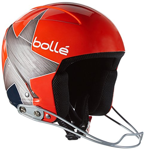 Bollé Podium Casco da Sci, Red Star, 56 cm