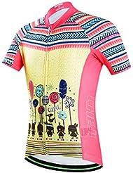 FreeFisher estilo étnico Jersey infantil de ciclo respirable fresco ropa maillot de ciclismo para niños