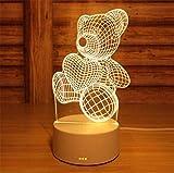 3D Lichtmuster Nacht Acryl Panel Led Licht Tier Muster Acryl Board Schutz Auge Laterne Kinder Geschenke