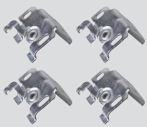 Der Jalousienladen EFIXS Universalträger (4 Stück) für Wand-oder Deckenmontage für Aluminium-Jalousien mit 25mm Oberschiene
