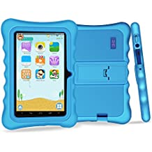 Yuntab Q88H Tablet para niños - Tablet Infantil de 7 Pulgadas Incluye iWawa Software niños Pre-instalado ( Android 4.4.2 KitKat, Quad-Core, WiFi, Bluetooth, HD 1024x600, 32 GB, 8GB ROM, Doble Cámara, Google Play) (Tableta azul, Caja azul)