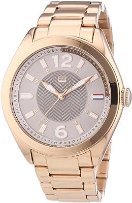 Tommy Hilfiger Watches 1781369 de cuarzo para mujer, correa de acero inoxidable chapado color oro rosa