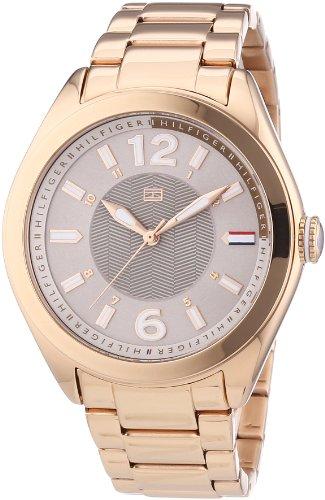 Tommy Hilfiger 1781369 - Reloj de cuarzo para mujer, correa de acero inoxidable chapado color oro
