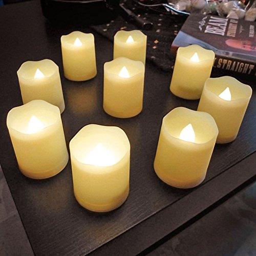 Winter-votiv-kerzen (SSITG 9er Teelichter LED Weihnachtskerzen mit Timer,Fernbedienung,Batterien 3 Modi (Lieferzeit ist 3-7 Tagen))