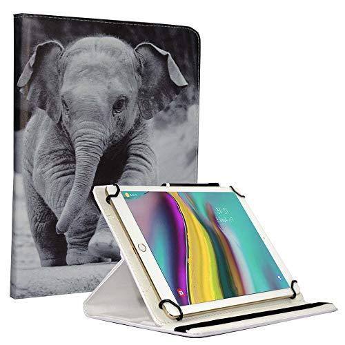 JP-WELT Tablethülle für Denver TAQ-10182 Schutzhüllen Tablet Case Tasche Hülle - 10.1 (10.5) Zoll Tier/Elefant 2