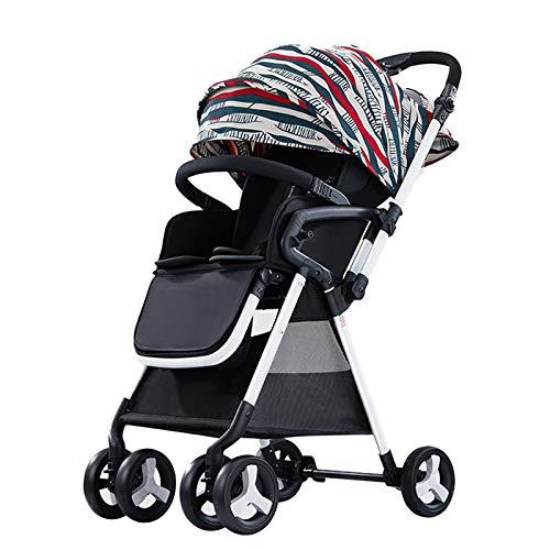 Carros de Bebe Silla para Bebe Plegable Silla de Paseo Giratorias 360 Grados con Ruedas Grandes Suspensión Asiento Amplio Desde Nacimiento hasta 20 kg - Color