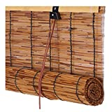 PENGFEI Bambus Rollo Schatten Bambusrollo Raffrollos Retro Reed Vorhang Balkon Belüftung - 4 Farben, Größenanpassung (Farbe :