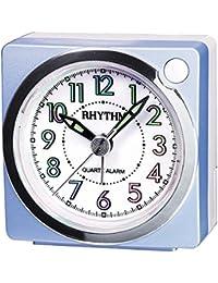 Rhythm Value Added Beep Alarm Clock Beep Alarm,Snooze,Light,Hologram Dial,Silky Move Analog (6.0x6.0x3.7cm)