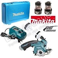 Makita CC300DWE - Cutter per piastrelle e vetro a batteria 10,8 V, 2 batterie e caricabatterie
