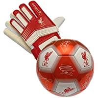 Nuskin Liverpool Size 5 Signature Football and Goalkeeper Gloves Combo 1c850b155275c