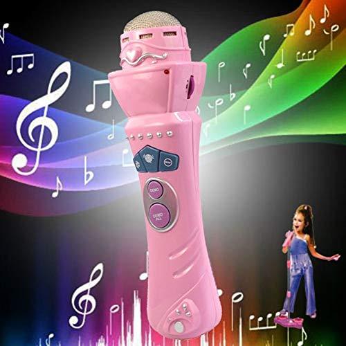SEGRJ Micrófono inalámbrico con LED para niños y niñas, con micrófono para Canto de Karaoke, Juguete de música Divertido para niños