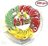 300pcs Sacchetti Plastica,Sacchettini Trasparenti Alimentari con Striscia Adesiva per Pacchetti di Caramelle/Biscotto Gioielli,etc (stile 1)