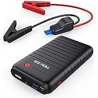 TENKER 10800mah 500A Avviatore Di Emergenza Per Auto Jump Starter, Caricabatterie Portatile Batteria Esterna Power Bank con Porte Doppio USB (Includere Un Port QC3.0) e Torcia LED