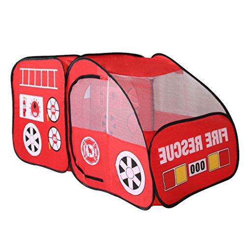 r-LKW-Auto Spielzelt Indoor-Outdoor-Pop Up Spielzelt Haus Spielzeug Rot ()