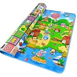 StillCool Krabbelmatte Baby Kinderteppich Baby Kinder Kinderspielteppich Crawl Junge kinderzimmer Spielmatte kinderzimmerteppich Picknick-Decke 180*120cm (M)