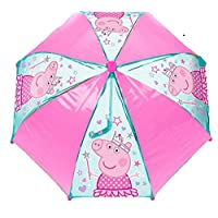 Peppa Princess Crown PVC School Rain Brolly Umbrella