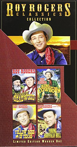 Roy Rogers Classics Collection LIMITED EDITION WOODEN BOX: Bad Man of  Deadwood (1941), King of the Cowboys (1943), The Yellow Rose of Texas  (1944),