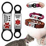 Berry ESA Hundemarke für Hunde- und Katzenhalsbänder – Edelstahl zum Aufschieben – Kein Lärm für Kleine Hunde und Katzen, S, L