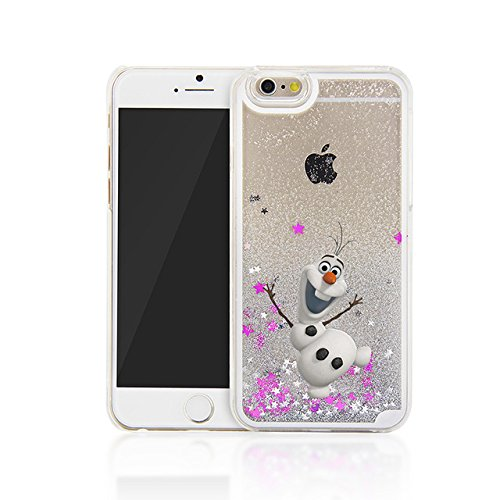 Phone Kandy® Hart Transparent Shell Glitter Stars Sparkle iPod Touch 5 / 6 Kasten mit Karikatur Hülle Abdeckung Haut tascen (iPod Touch 5 / 6, Olaf) (Minnie Mouse Mp3-player)