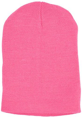 Basic Flap Beanie neon pink