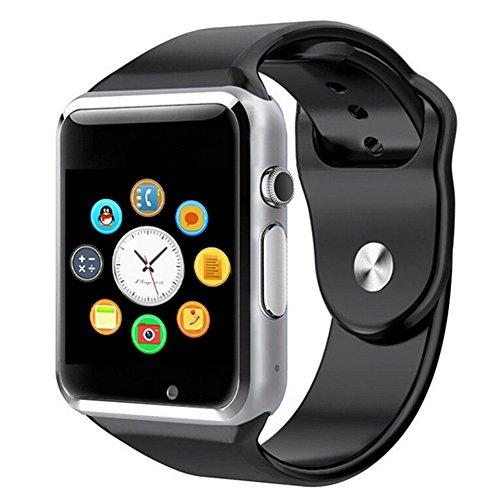 Austec 2016 Neue Bluetooth-A1 Smart Watch Wristphone Sport Uhren für Apple iPhone 6 Samsung S4/Note 2/Note 3 HTC Android/IOS Phone (6 Smart-uhren Iphone Für Ios)