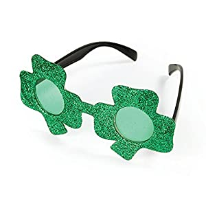 NEW IRISH CLOVER GLASSES ST PATRICKS FANCY DRESS (accesorio de disfraz)