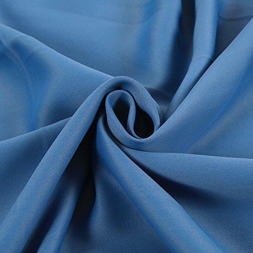 Deconovo Verdunkelungsgardinen mit Ösen Vorhang Blickdicht Ösenvorhang Blickdicht 245×140 cm Blau 2er set - 6
