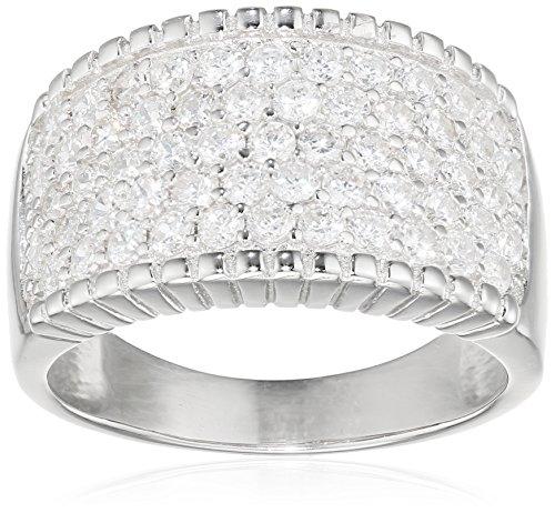 S. Oliver Damen-Ring 925 Silber Zirkonia weiß Gr. 54 (17.2) - 490115